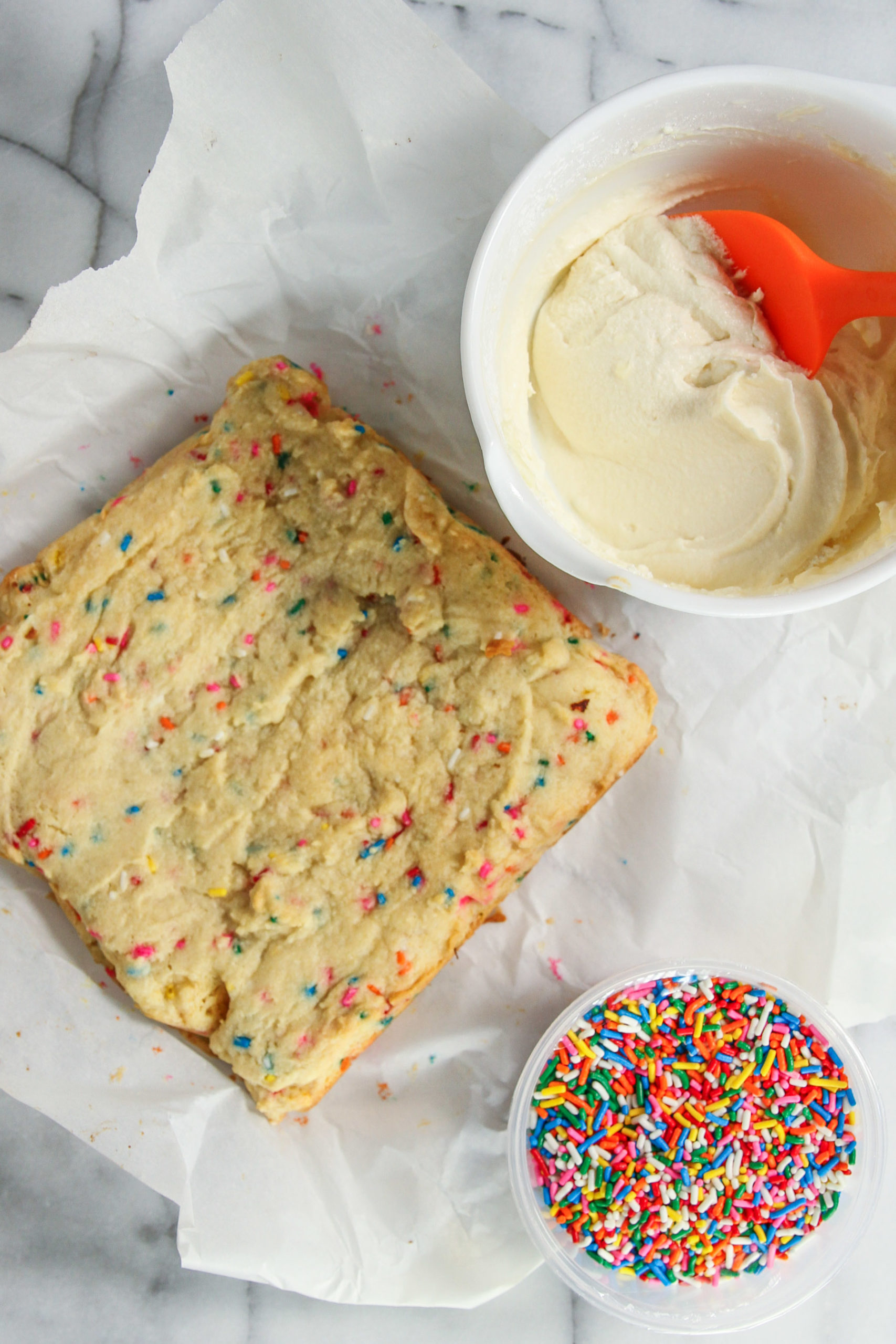 Fun and easy sprinkle cookie bars