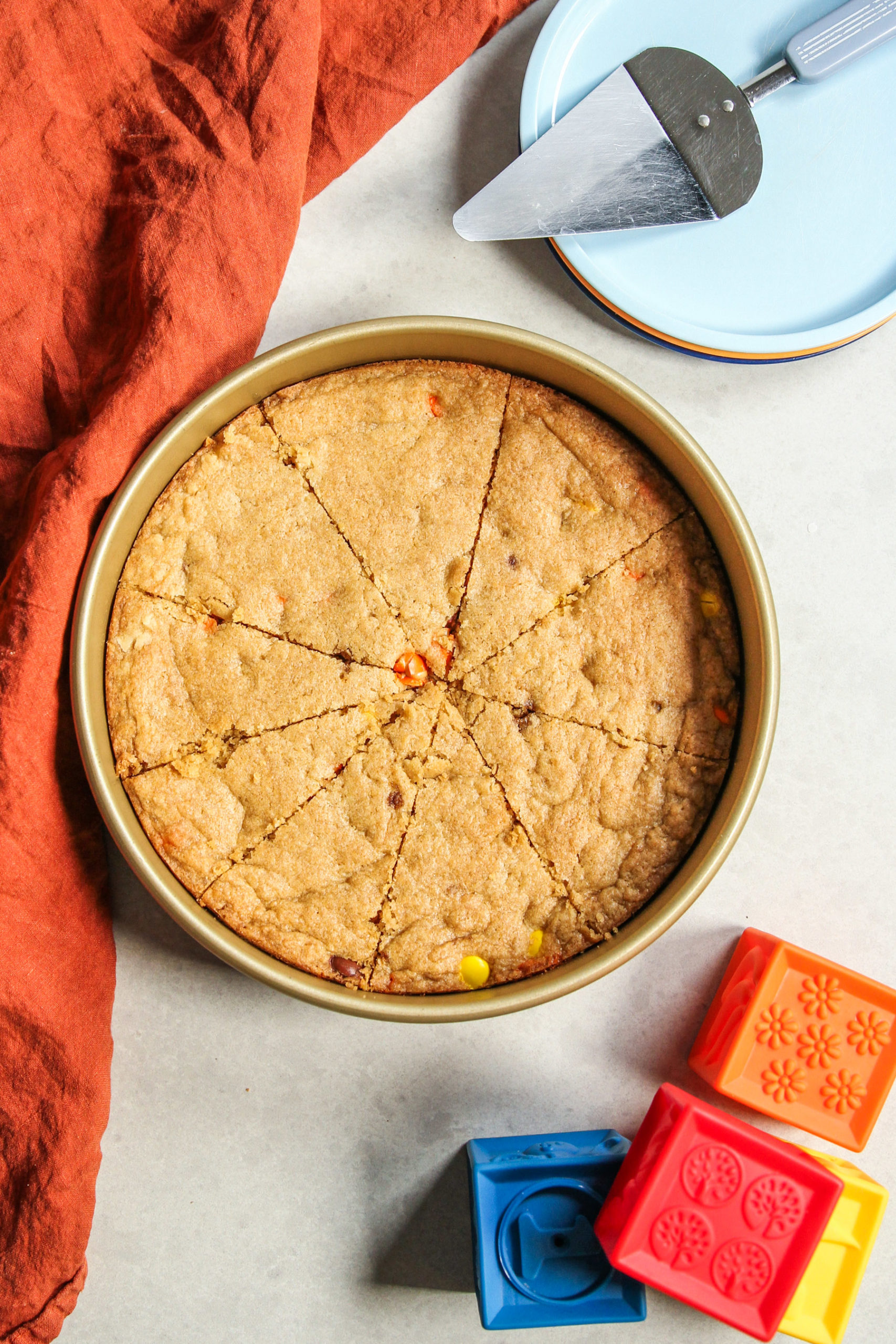 Whole wheat peanut butter cookie pizza