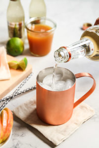 Apple Cider Ginger Beer Mule Cocktail