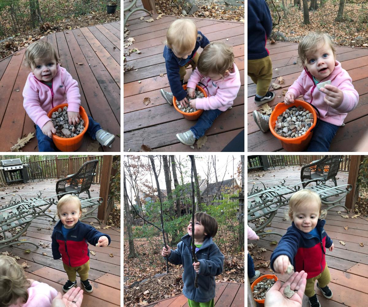 Kids eating rocks