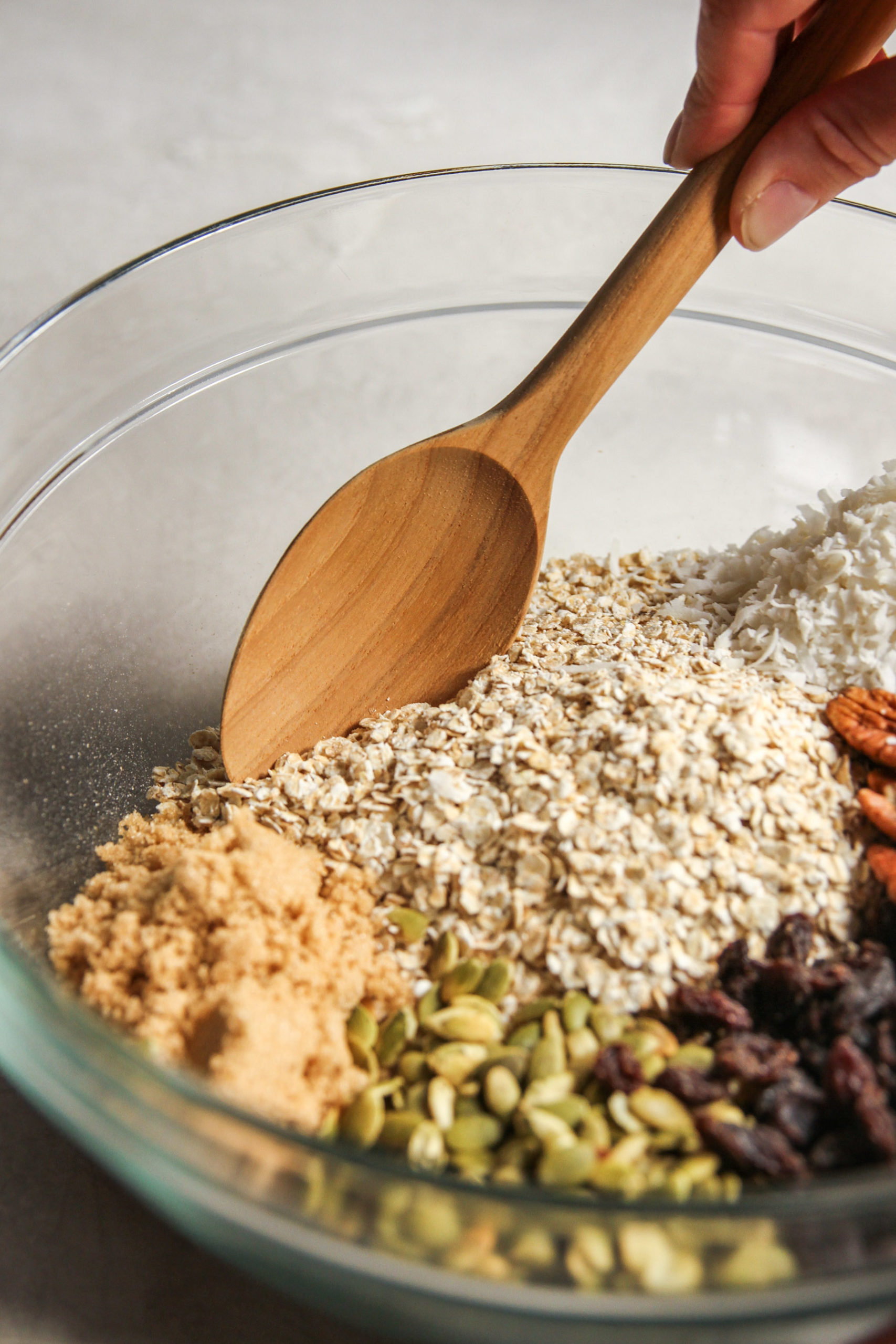 Ingredients for anything goes big batch granola