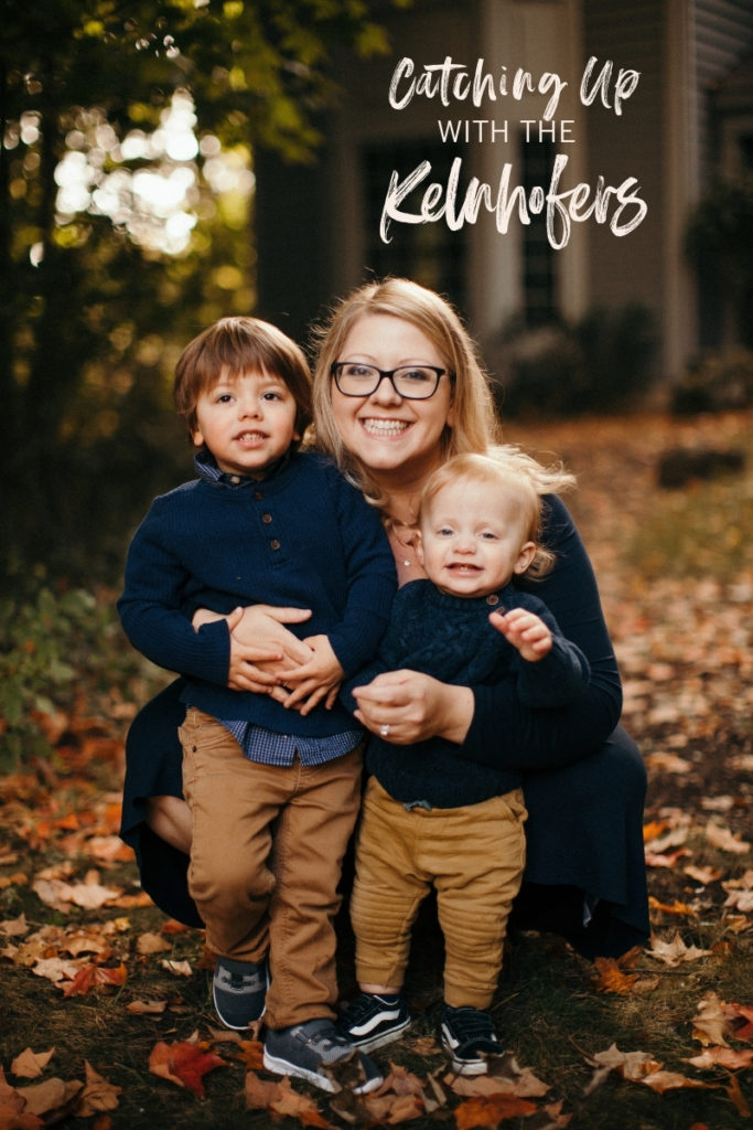 Mom and two boys fall pictures