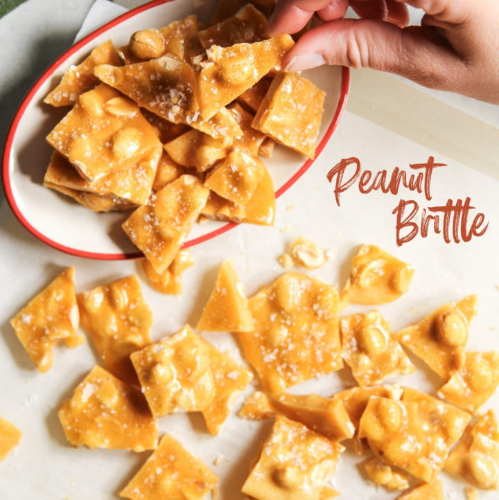 5 ingredient peanut brittle candy recipe without a thermometer