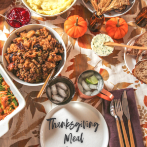 Thanksgiving Meal Planner for a small planner