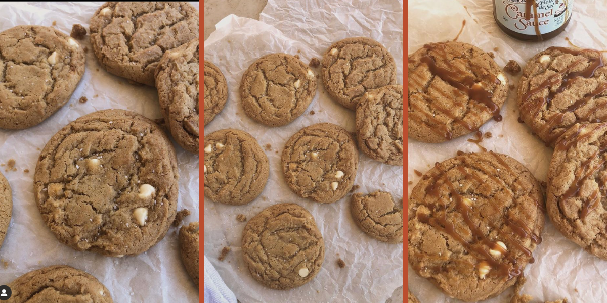 Reader recreation, salted caramel chocolate chip cookies