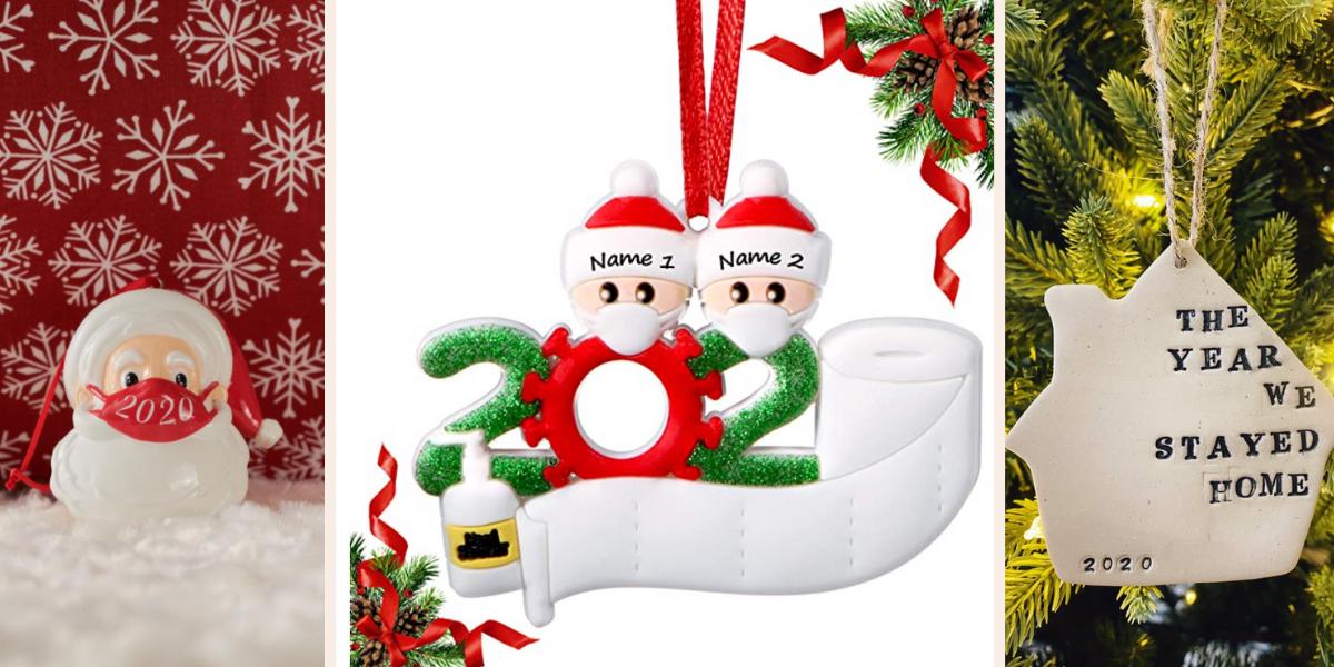 Three fun and festive 2020 ornaments