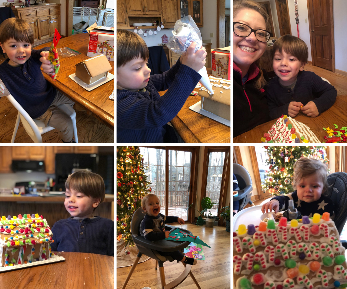 Fun with a gingerbread house kit