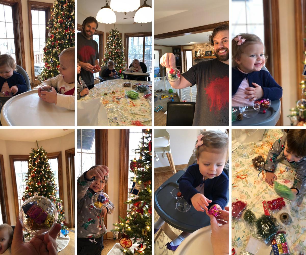 Fun holiday crafts - making ornaments
