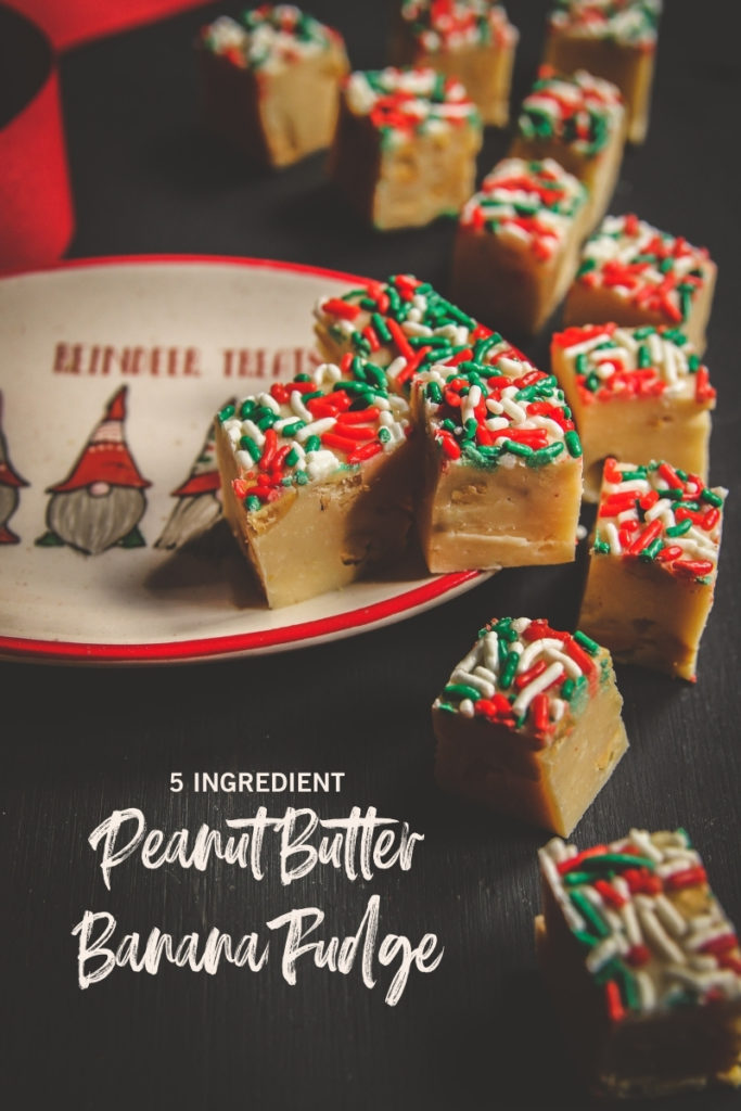 5 Ingredient peanut butter banana fudge