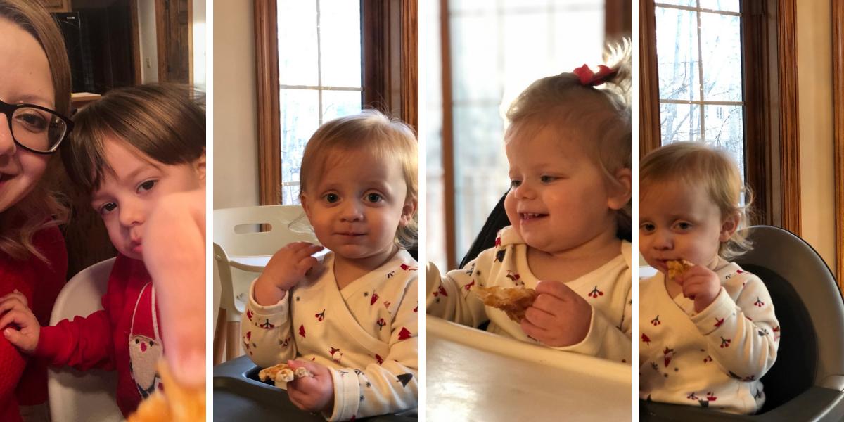 The kids loving eggless waffles