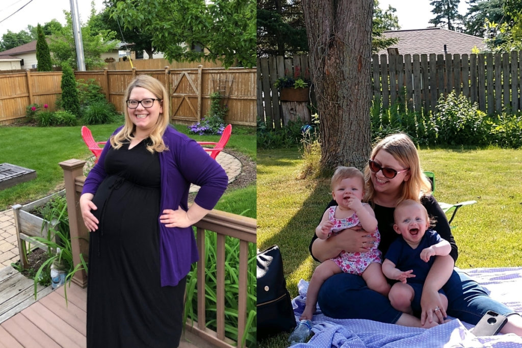 Before after twins pregnancy weight loss
