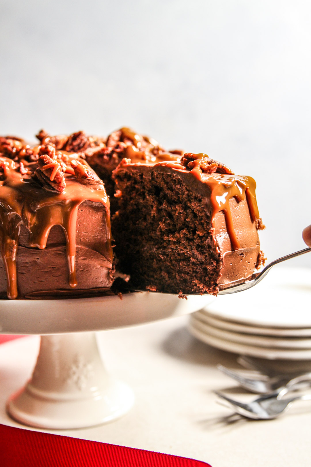 Chocolate Dolce de Leche Caramel Turtle Cake Recipe