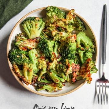 Crispy from frozen roasted broccoli