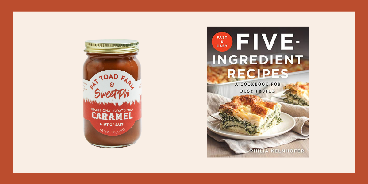 Caramel and a cookbook make a great gift