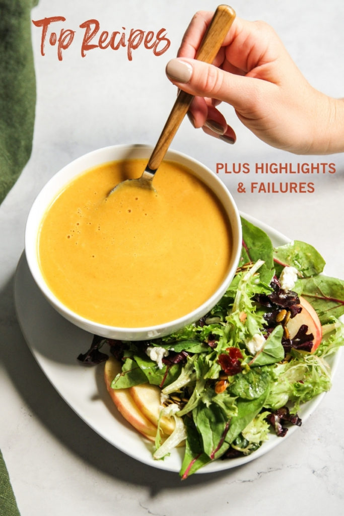 Top recipes of 2020 plus highlights and failures