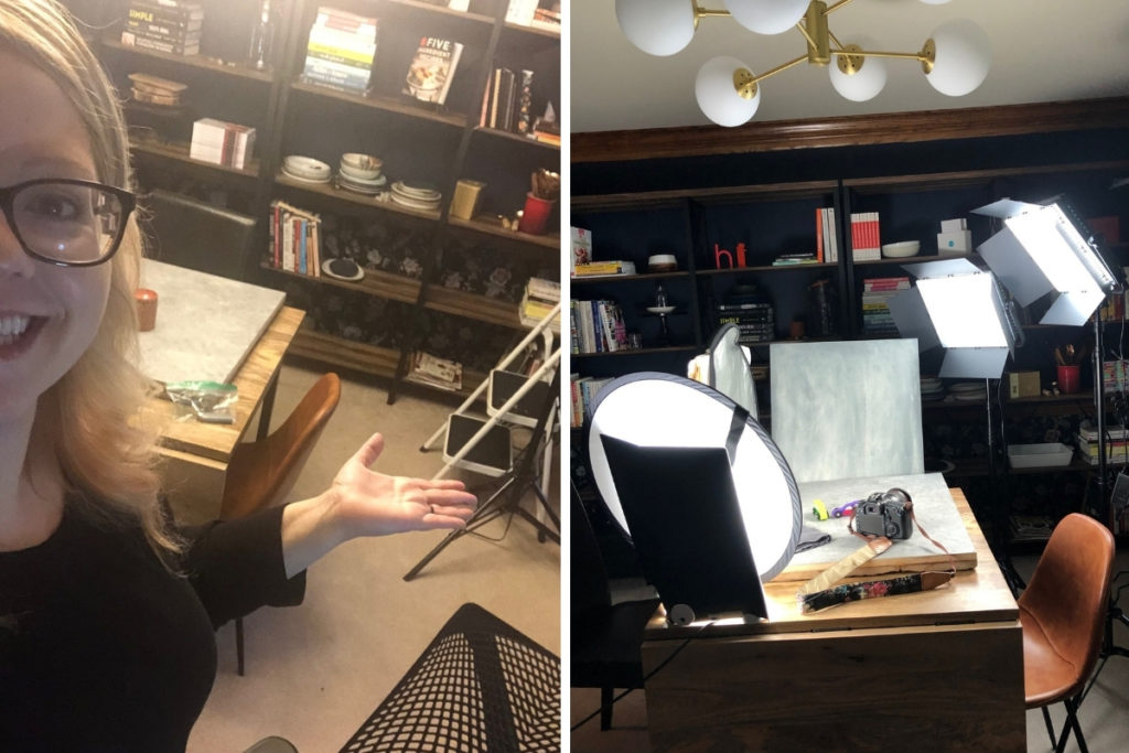 Home office and switching to artificial light photography