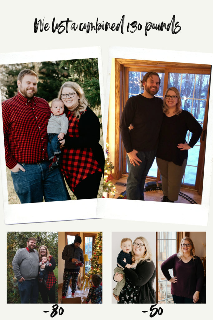 Couple weight loss - we lost a combined 130 pounds last year
