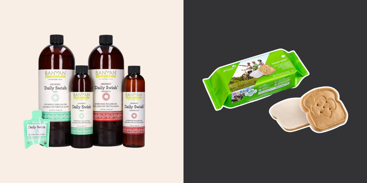 Oil pulling for gums and new girl scout cookie flavor