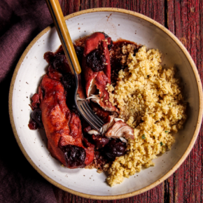 5 Ingredient Cherry Chicken & Couscous