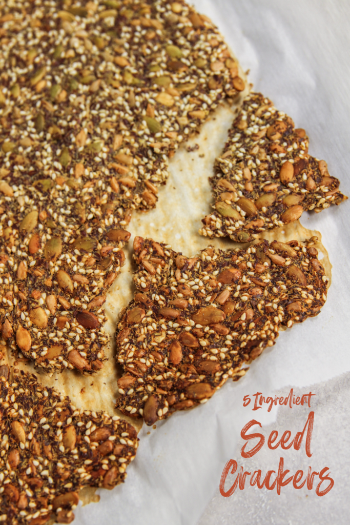 5 Ingredient Seed Crackers Recipe make a great healthy snack
