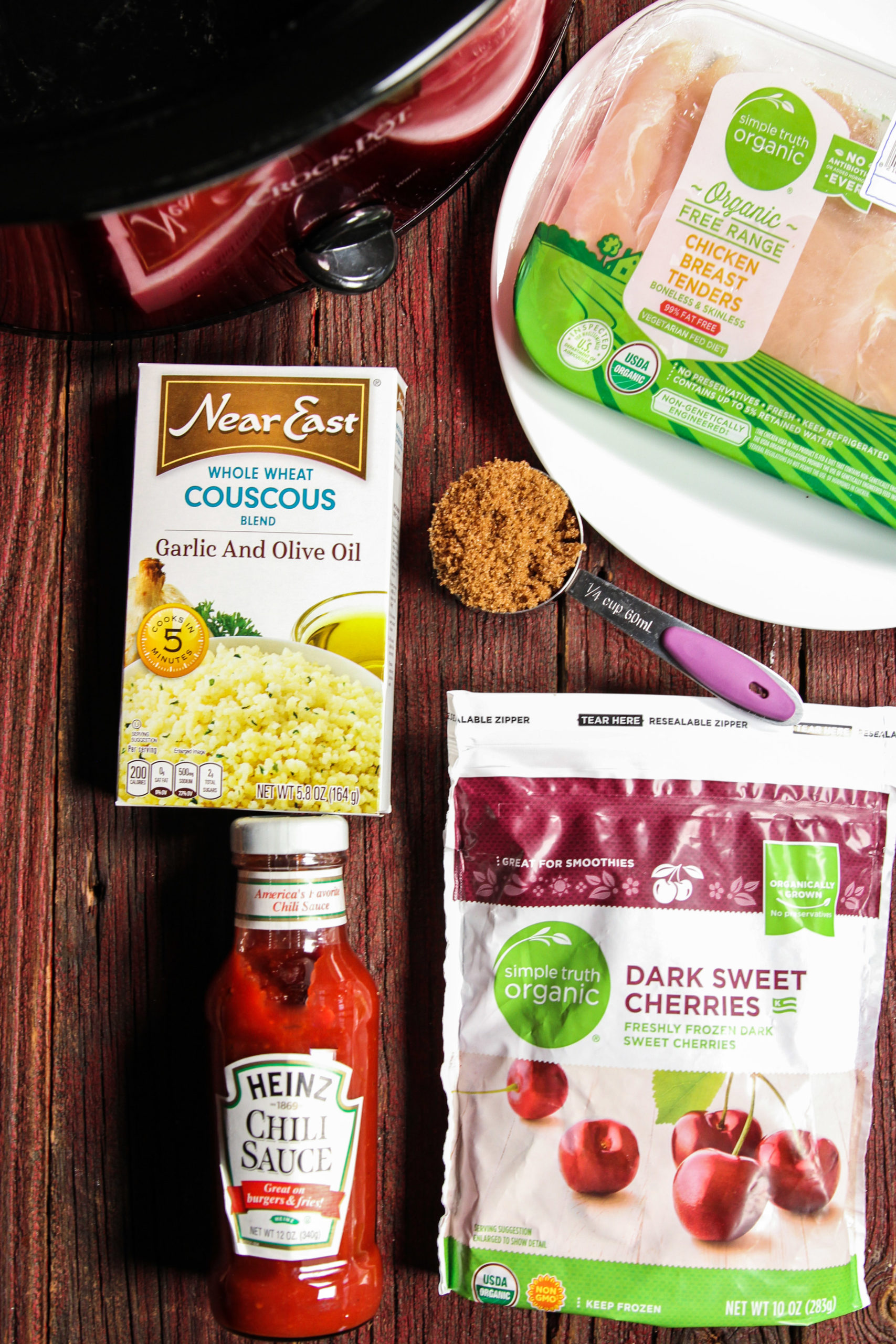 Ingredients needed for 5 ingredient cherry chicken and couscous