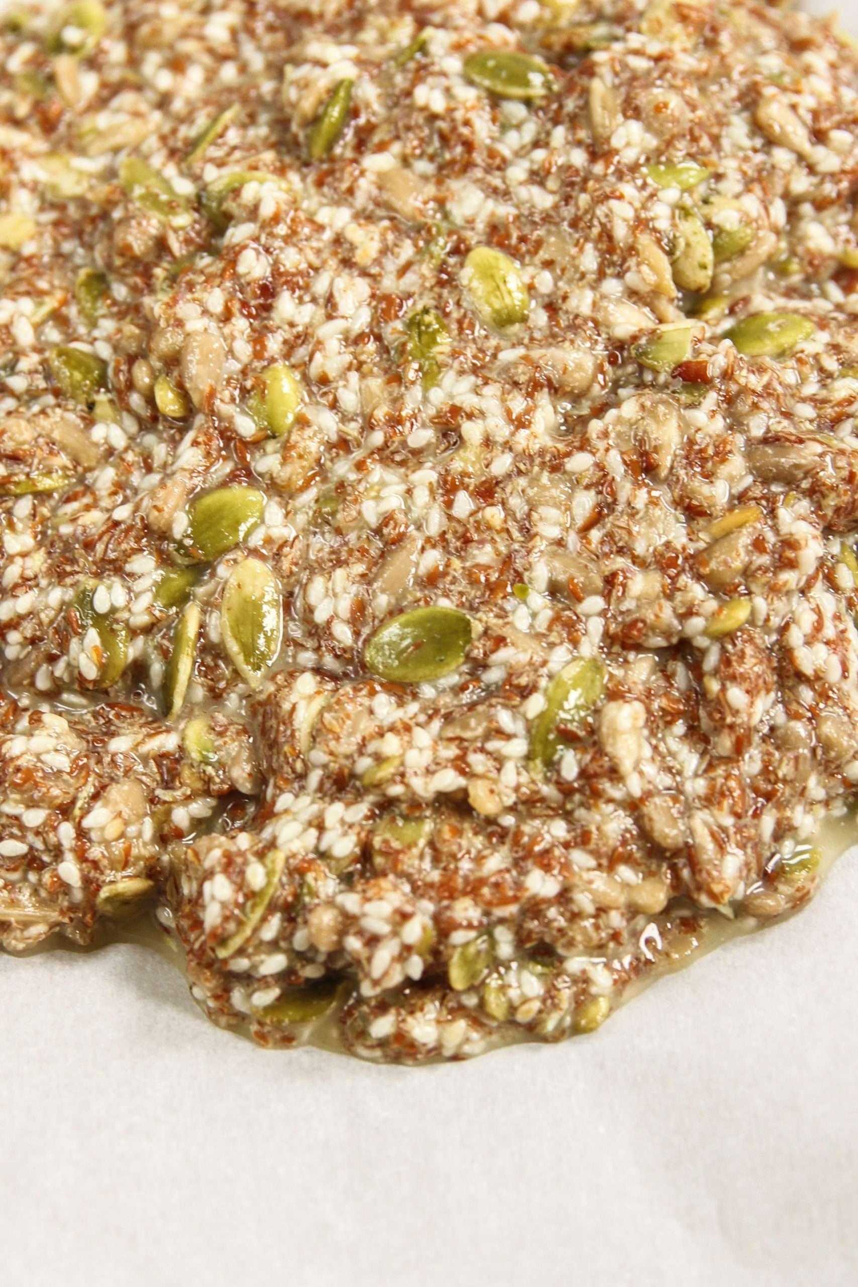 5 Ingredient seed crackers recipe -5