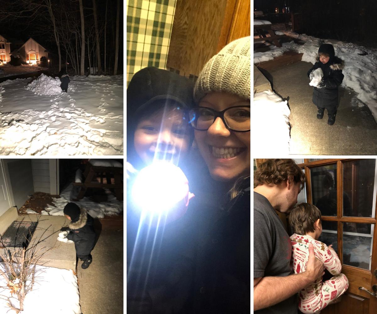 Taking night walks with Ben