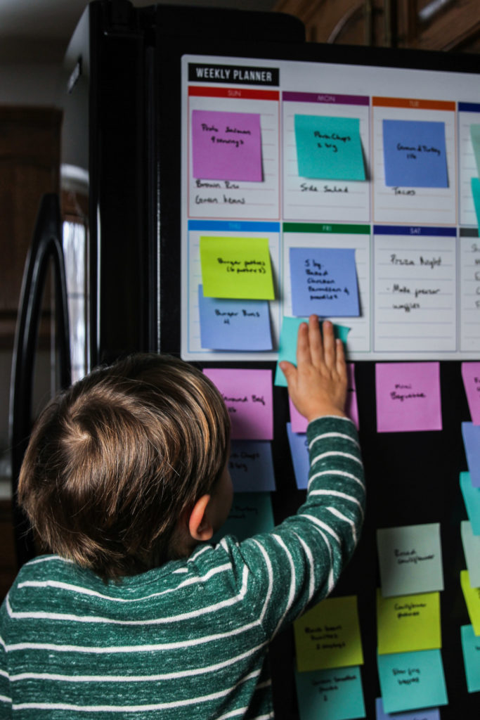 Kids involved in meal planning, kids in the kitchen with meal planning