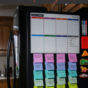 Post-it freezer organization and meal planning method