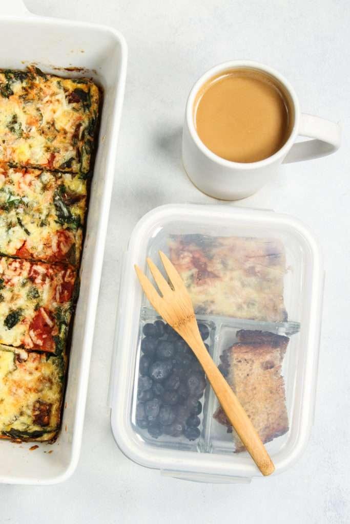 Meal prep breakfast frittata