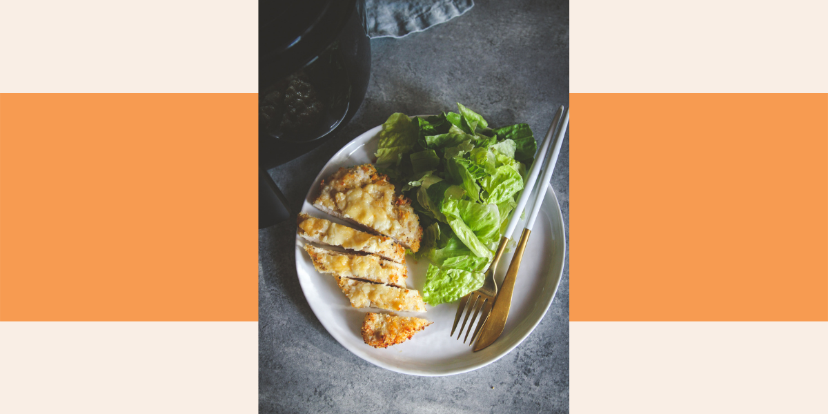 Try this air fryer cheesy chicken for an easy dinner