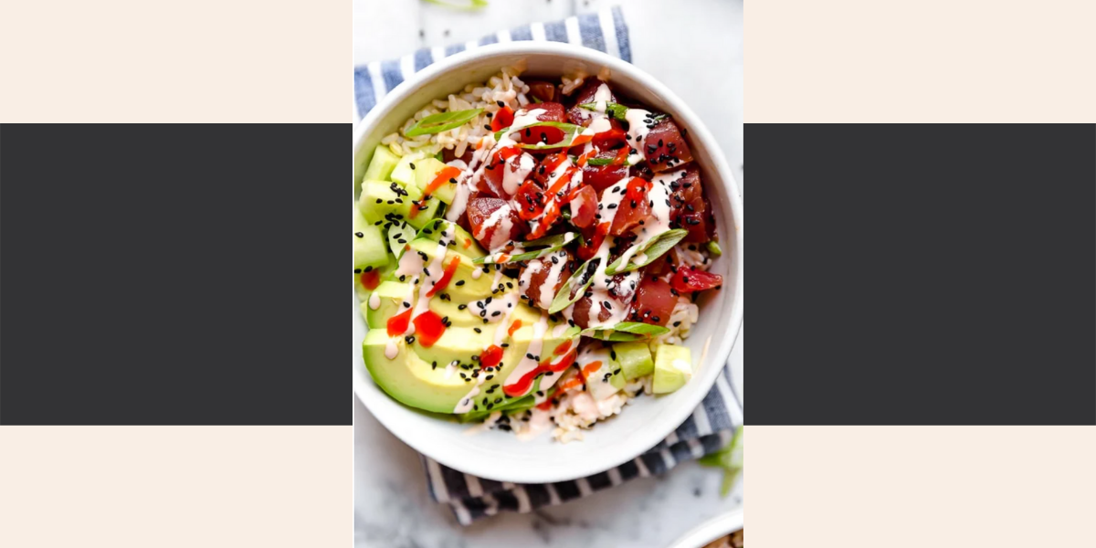 Skinnytastes healthy tuna poke bowl