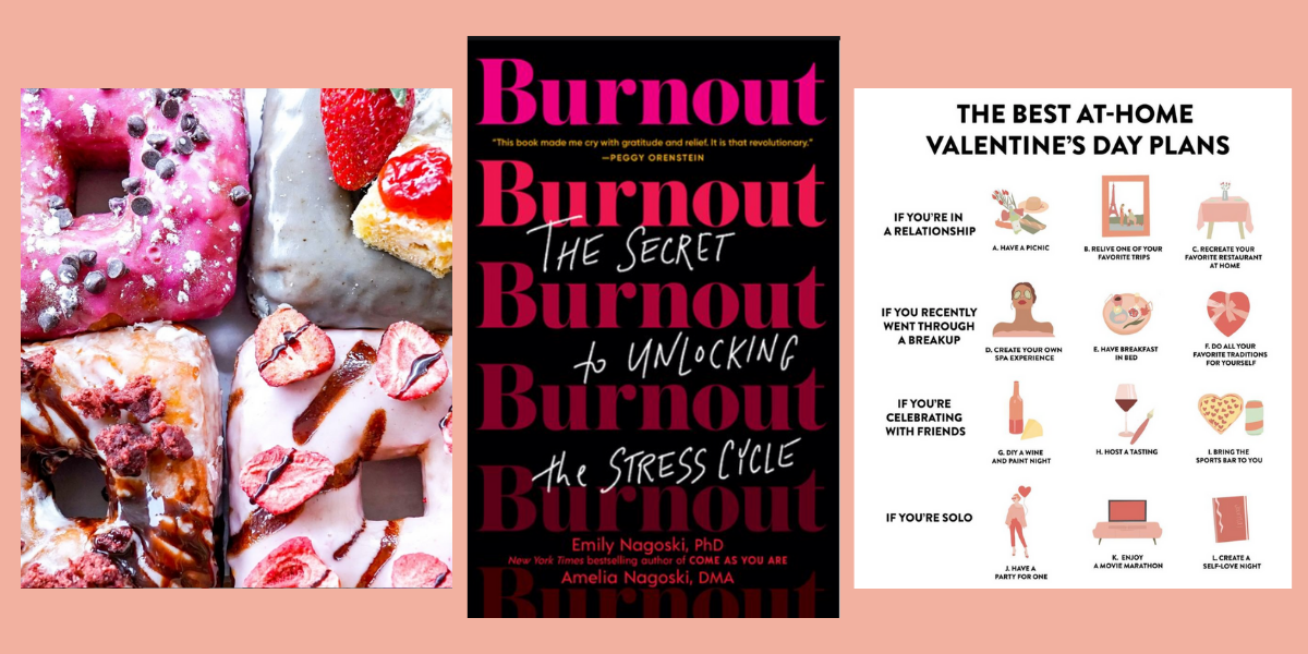 Square donuts, a book about the stress-cycle and great Valentine's Day plans
