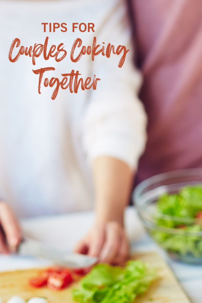 Couples cooking together image