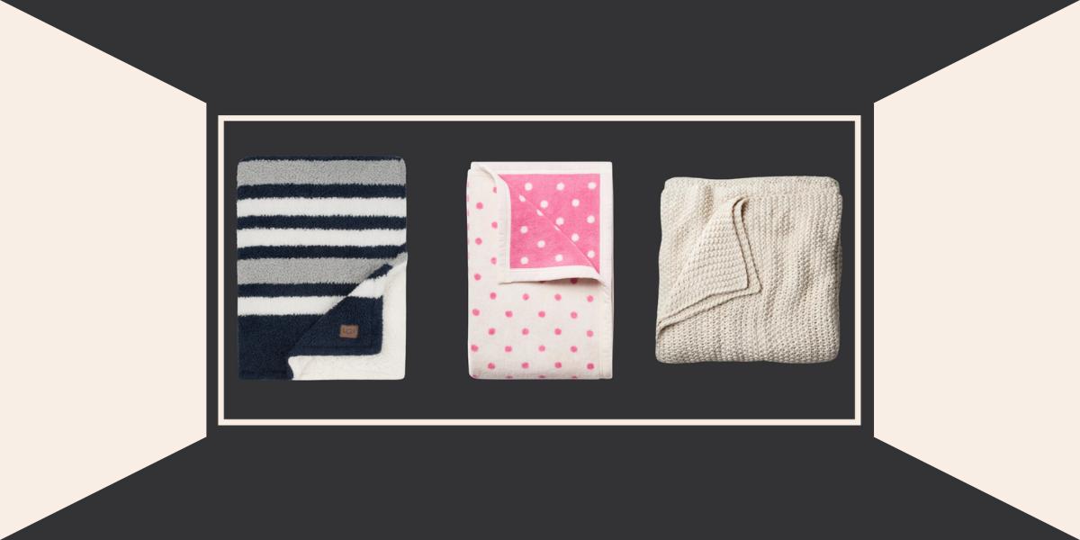 Three different throw blankets